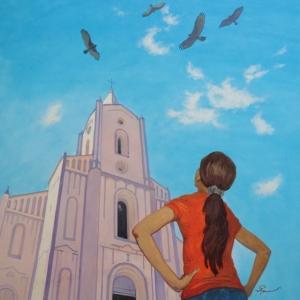 Орлы над церковью / Aguias pairando por cima da igreja