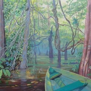 Водяными тропинками затопленного леса / Pelas trilhas da floresta alagada