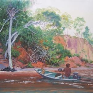 На крутых берегах Риу Негру. / Nas ribanceiras do Rio Negro.