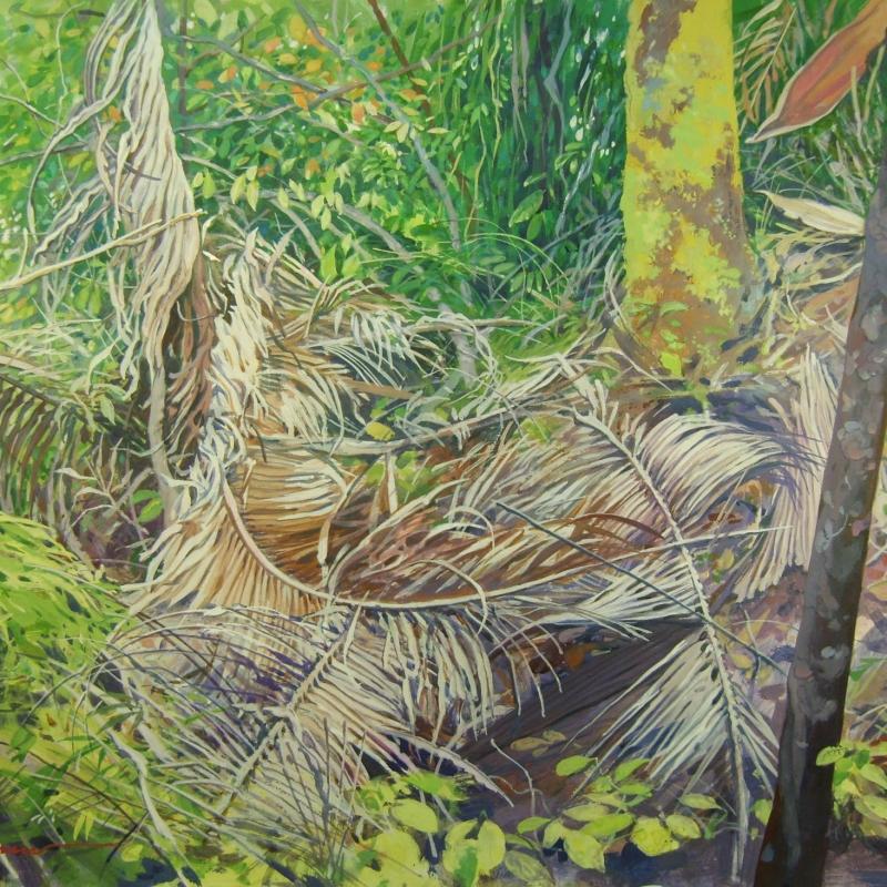 Натюрвив с пальмовыми листьями / Natureza viva com folhas de palmeira