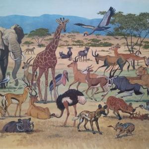 """илл. из книги В. Зотова """"На поиски животных"""" (Африканская саванна)"""