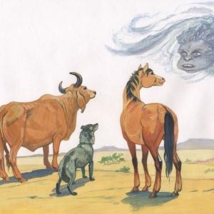 """илл. к """"Откуда у верблюда горб на спине"""""""