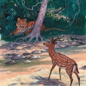 Илл. к книге о Семействе кошачьих (тигр)